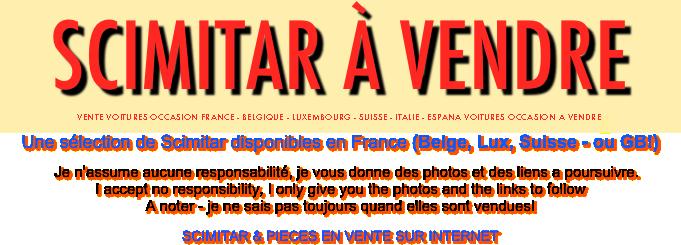 Scimitar à Vendre Vente Voitures Occasion France Belgique